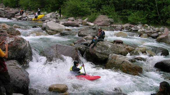 Canoying in Val Noana